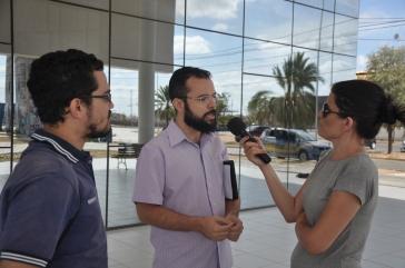 Entrevista no campus Petrolina: Pablo Dantas (DCE) e Ari Cardona (Frente Brasil Popular)