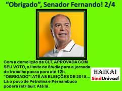 SINDUNIVASF HAI KAI n. 6 FBC OBRIGADO