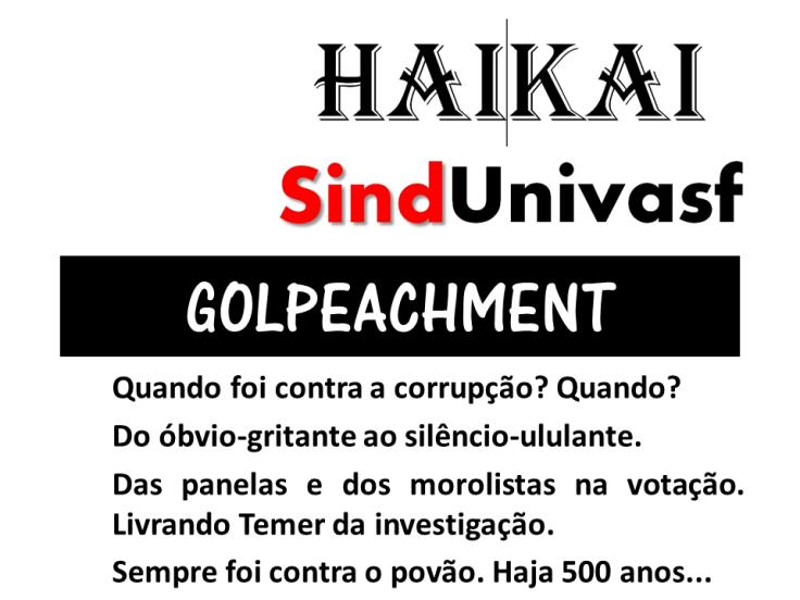 HAIKAI GOLPEACHMENT E TEMER LIVRE