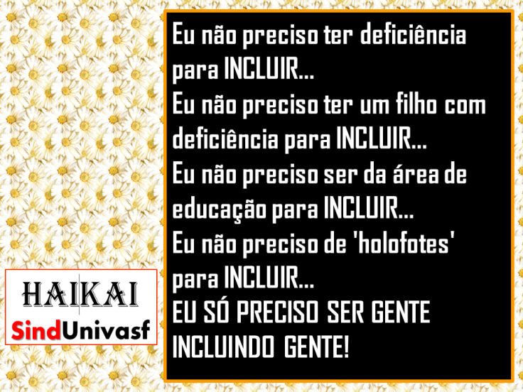 SINDUNIVASF HAI KAI n. 16 Pessoa com Deficiência