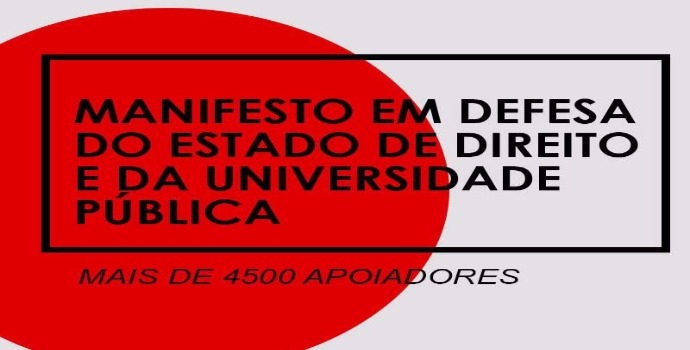 foto manifesto Estado Direito Universidade Pública