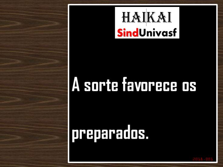 SINDUNIVASF HAI KAI 2018.001 A sorte