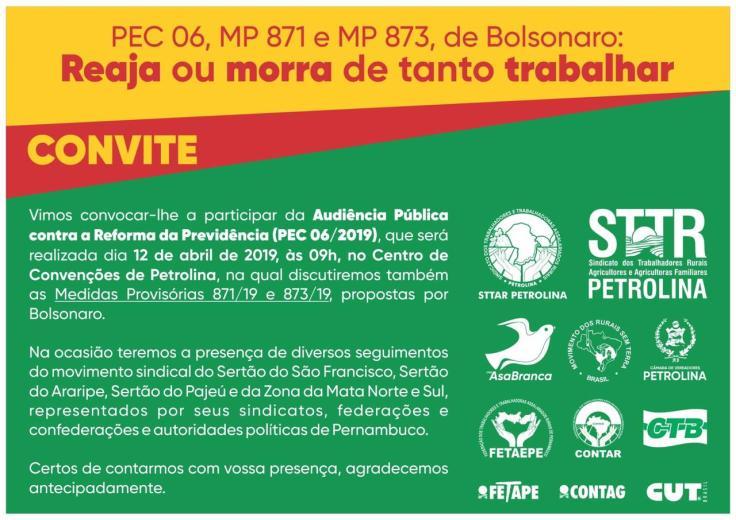 Audiência pública - Reforma da Previdência (12-04)