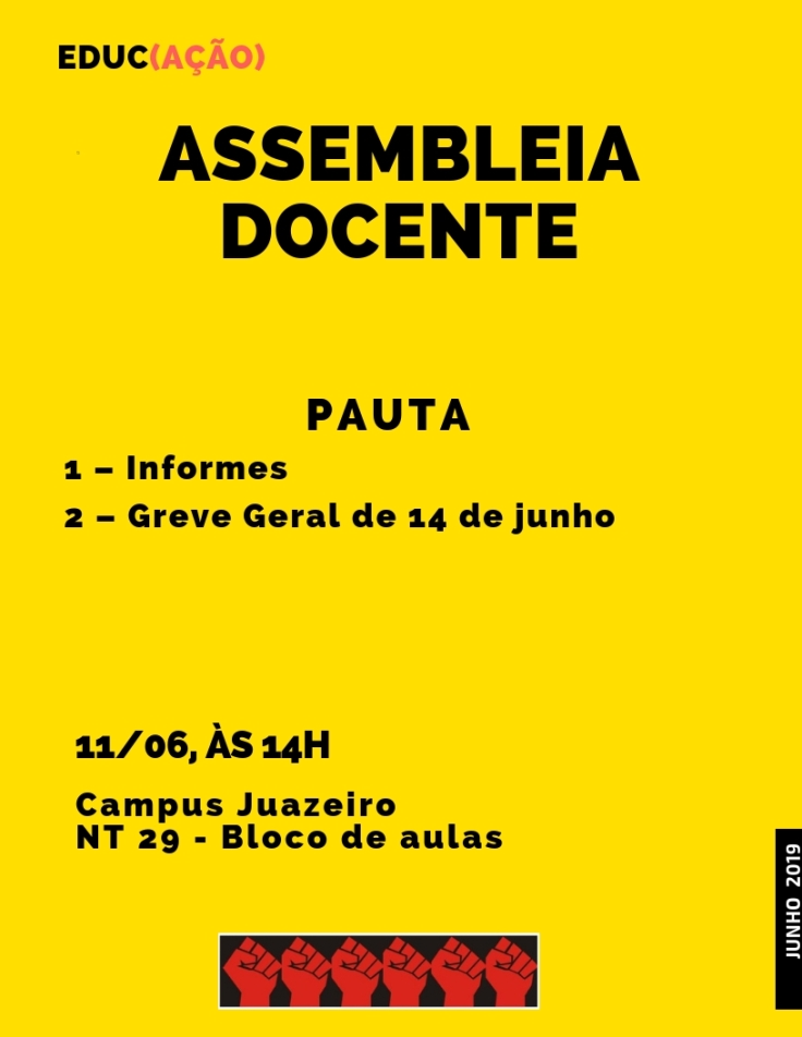 Assembleia docente 11-06-2019