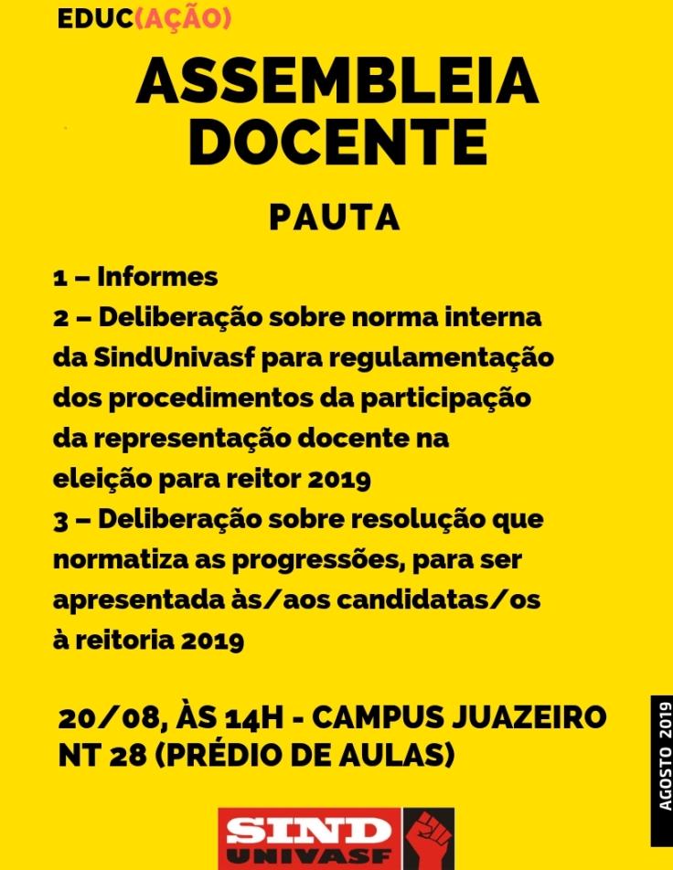 Assembleia docente 20-08-2019