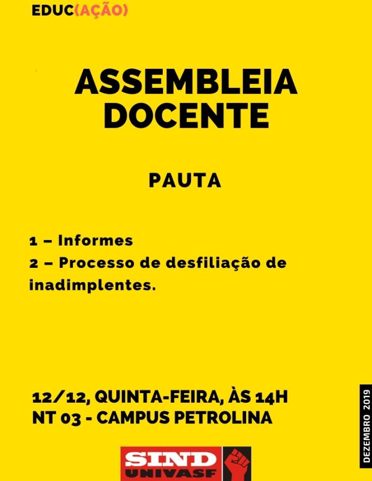 Assembleia docente 12-12-2019